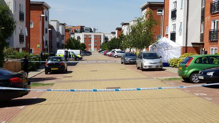 The scene around Siloam Place at the time of the incident Picture: ARCHANT