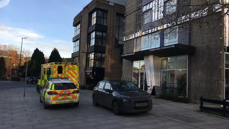 Suffolk Constabulary were called to reports of a sudden death at St Francis Tower in the centre of I