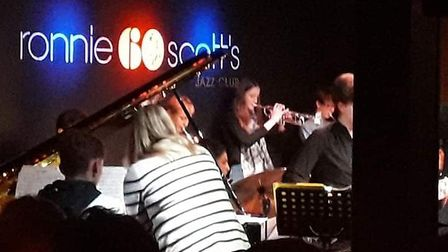 Grace Harman, from Kesgrave, got the chance to play at Ronnie Scott's Jazz Club in London. Picture:
