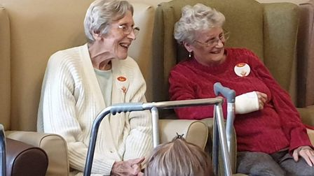 Residents singing along and dancing in their chairs to nursery rhymes Picture: JO JINGLES IPSWICH
