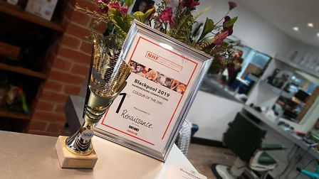 The NHF awards won by Renaissance Hair and Beauty in Ipswich. Picture: NEIL PERRY