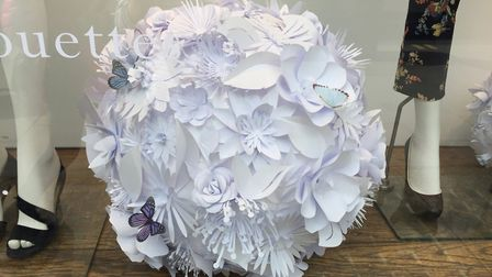 Paper flowers for Hobbs PICTURE: Sarah Blanchard
