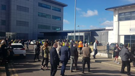 The coroner's court in Ipswich was evacuated following reports of a smell of smoke Picture: ARCHANT
