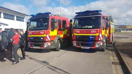 Two fire crews were called to the scene on Whitehouse Road Picture: ARCHANT