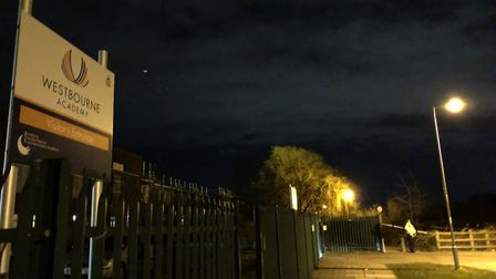 The footpath is next to Westbourne Academy, alongside the Bramford Lane Recreation Ground Picture: A
