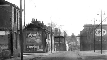 The houses on the left of this mid 1930s photograph were set for demolition when this photograph was
