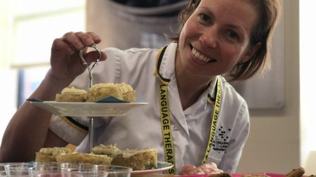 Kate Harrall, principal speech and language therapist at the Ipswich hospital with some of the tasty