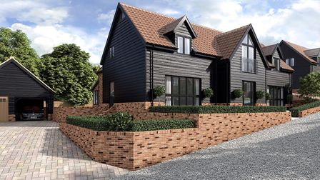 The Barley Barn, plot 3, at Jacks Field has a guide price of £825,000 Picture: THIRD RULE STUDIO