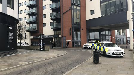 The University of Suffolk is evacuated following a bomb scare Picture: ARCHANT