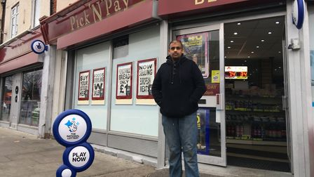 Prash Shah, owner of Pick 'n' Pay in Queen's Way Picture: ANDREW HIRST