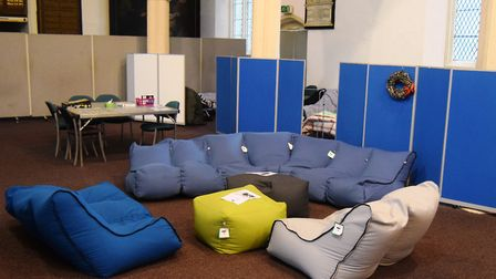 The Ipswich Winter Night Shelter at the St Nicholas Centre in Cutler Street. Picture: ANDREW PAPWORT