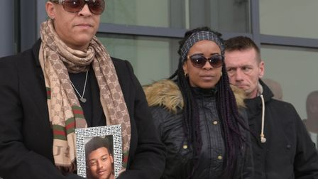 Sharon Box, Tavis' mum, while her statement is read out Picture: SARAH LUCY BROWN