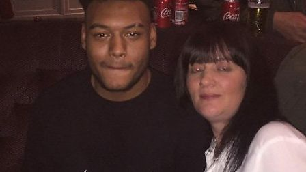 Tavis with stepmother Helen Forbes Picture: CONTRIBUTED