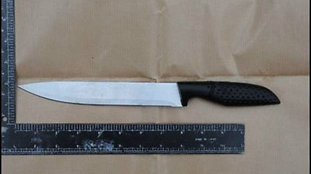The weapon found in the River Gipping following the murder of Tavis Spencer-Aitkens Picture: SUFFOL