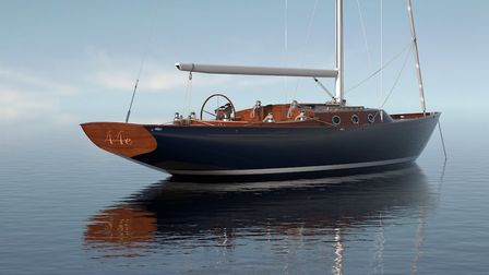 The Spirit 44E. A computer generate image of how she will look. Picture: SPIRIT YACHTS