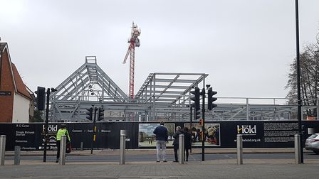 The Hold is taking shape on the university campus. Picture: RACHEL EDGE