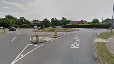 The collision happened at the juction of Westerfield Road and Valley Road Picture: GOOGLE MAPS