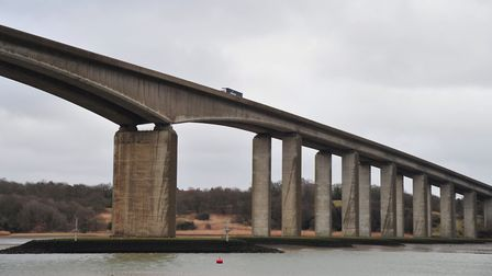 The A14 Orwell Bridge near Ipswich has re-opened to traffic Picture: SARAH LUCY BROWN
