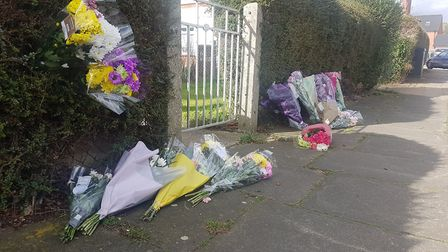 Floral tributes have been left for Kia Russell, 19, and her two-year-old son, Kamari. Picture: ARCHA
