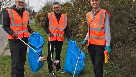 Voulenteers from the Environment Agency collected 100kg of rubbish during a day of Green Action. Pic