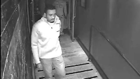 Suffolk Constabulary want to talk to this man in relation to an incident. Picture: SUFFOLK CONSTABUL