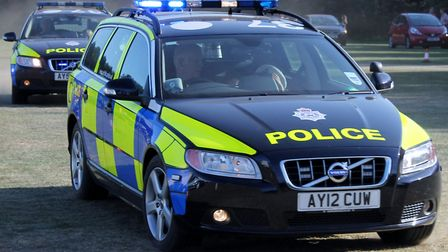 An Audi stolen in Ipswich was chased by police more than 150 miles away into Derbyshire Picture: KRI