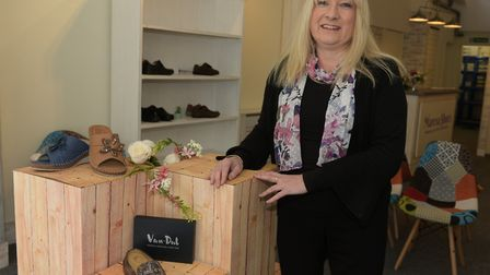 Lisa Southgate, manager of new shoe shop, Maresa Shoes Picture: Sarah Lucy Brown