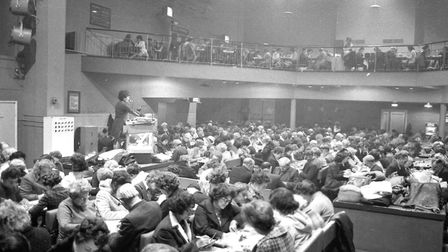 Top rank bingo room was packed out in 1974 Picture: ARCHANT