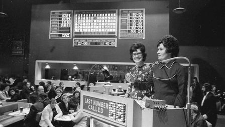 The two ladies having a great time calling the bingo numbers out, number 88 Picture: ARCHANT