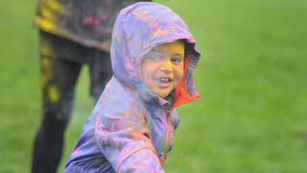 Ray Bailey having lots of fun at the Holi festival Picture: SARAH LUCY BROWN
