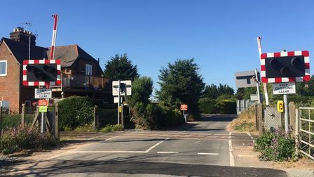 Levington level crossing - one of the four to be upgraded and made safer Picture: NETWORK RAIL