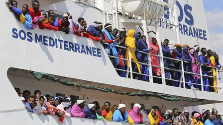 Migrants from the Aquarius who were refused entry to Italy but found refuge in Spain