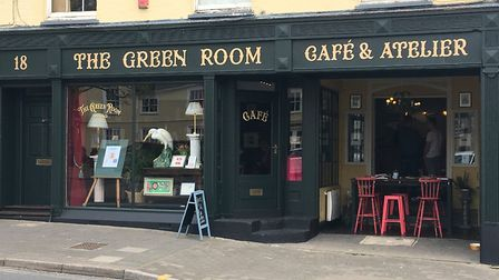 Local artists from across Suffolk will work sitting in the window of the Green Room Picture: SUZANNE