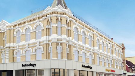 A CGI of how refurbished Carr House in Ipswich, formerly the home of Ipswich Co-operative Society of
