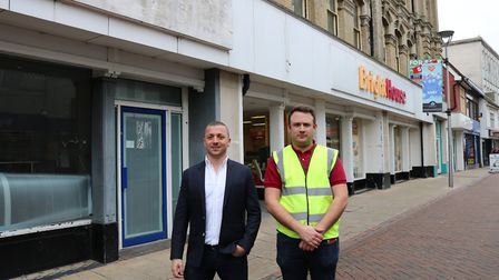 Joe Fogel and Levi Draycott outside the old Co-op building in Carr Street Picture: CHARLOTTE BOND
