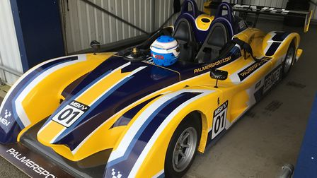 The F3000 single seater sports car, one of the cars coach driver Tim Robson drove on the racetrack,