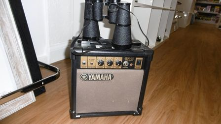 Unusual donated items in the new St Elizabeth Hospice shop at Heath Road, Ipswich, a Yamaha speaker