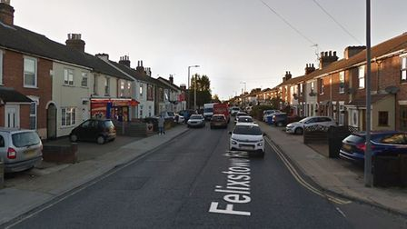 Suffolk police have been called to a two-vehicle crash in Felixstowe Road, Ipswich Picture: GOOLEMAP