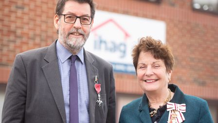 Mr Hewitt has run the Ipswich Homeless Action Group since 1993, and received hi MBE in recognition o