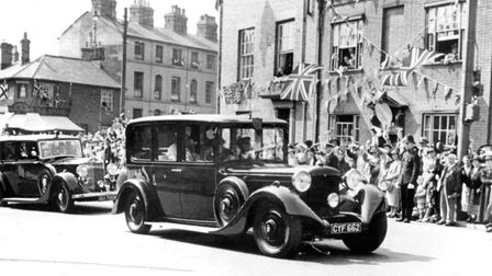 Crowds on St Margarets Plain greeted Queen Mary as she arrived by car in June 1938. Picture: DAVID K
