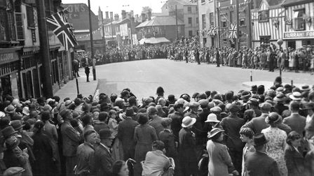 Here is a large crowd at St Margarets Plain for the visit to Ipswich by Queen Mary in June 1938. Pic