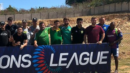 Marty Smith, from Ipswich, with the British Virgin Islands footbal team in the Concacaf Nations Leag