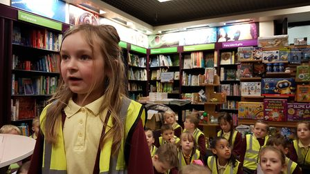 Children from The Oaks Primary School read their poems in front of their teachers and parents. Pictu