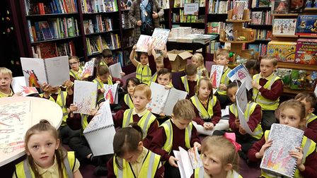 Each student had a specially bound book which they signed. Picture: RACHEL EDGE