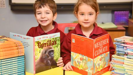 Charsfield CEVCP School celebrate winning Books For School Byline: Sonya Duncan Copyright: Archant 2
