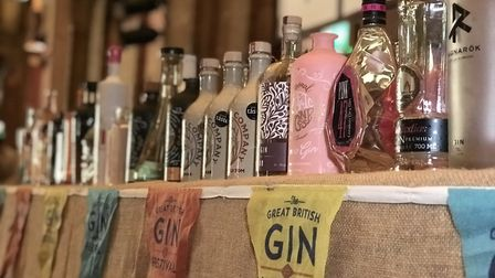 Gins were organised in alphabetical order at The Great British Gin Festival at Ipswich Corn Exchange