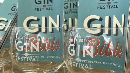The gin bible with all of the 101 different types of gin on offer was handed to guests as they arriv