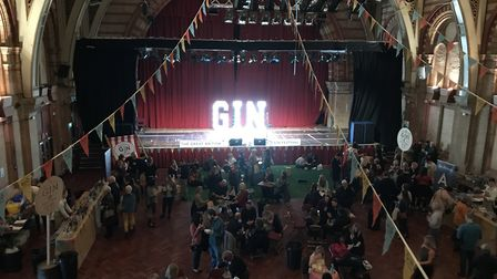 The Great British Gin Festival which tours the UK, landed at Ipswich Corn Exchange on Saturday. Pic