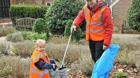 People of all ages came to clean up Christchurch Park. Picture: NICOLE DRURY
