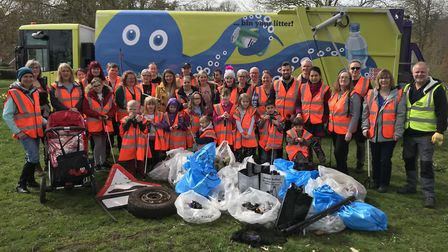 Dozens of volunteers spent two hours on Saturday morning picking up litter from Christchurch Park in